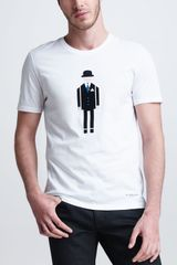 Burberry Prorsum Businessman Graphic Tee - Lyst