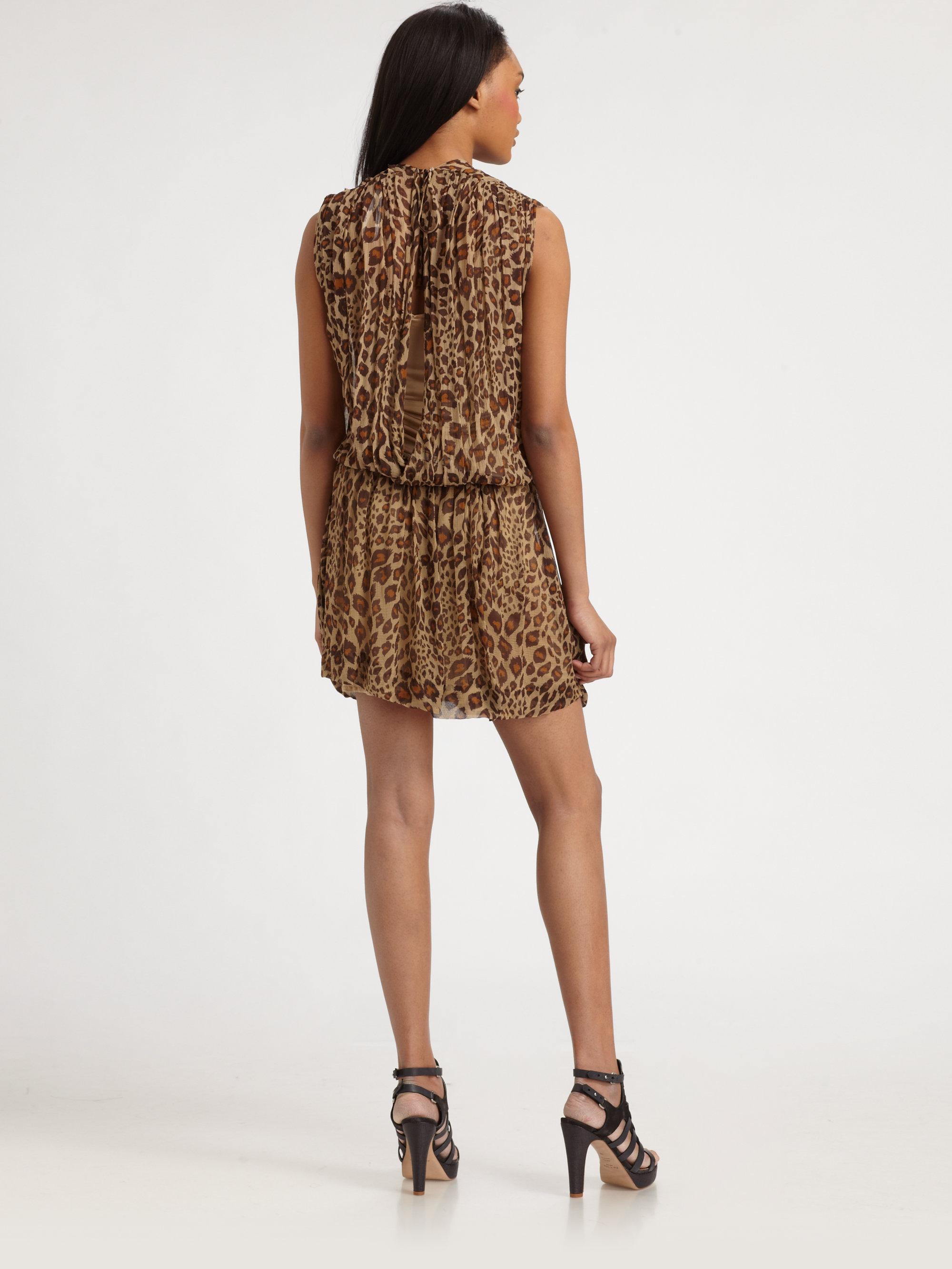 By Malene Birger Rebel Chic Silk Dress In Brown Lyst