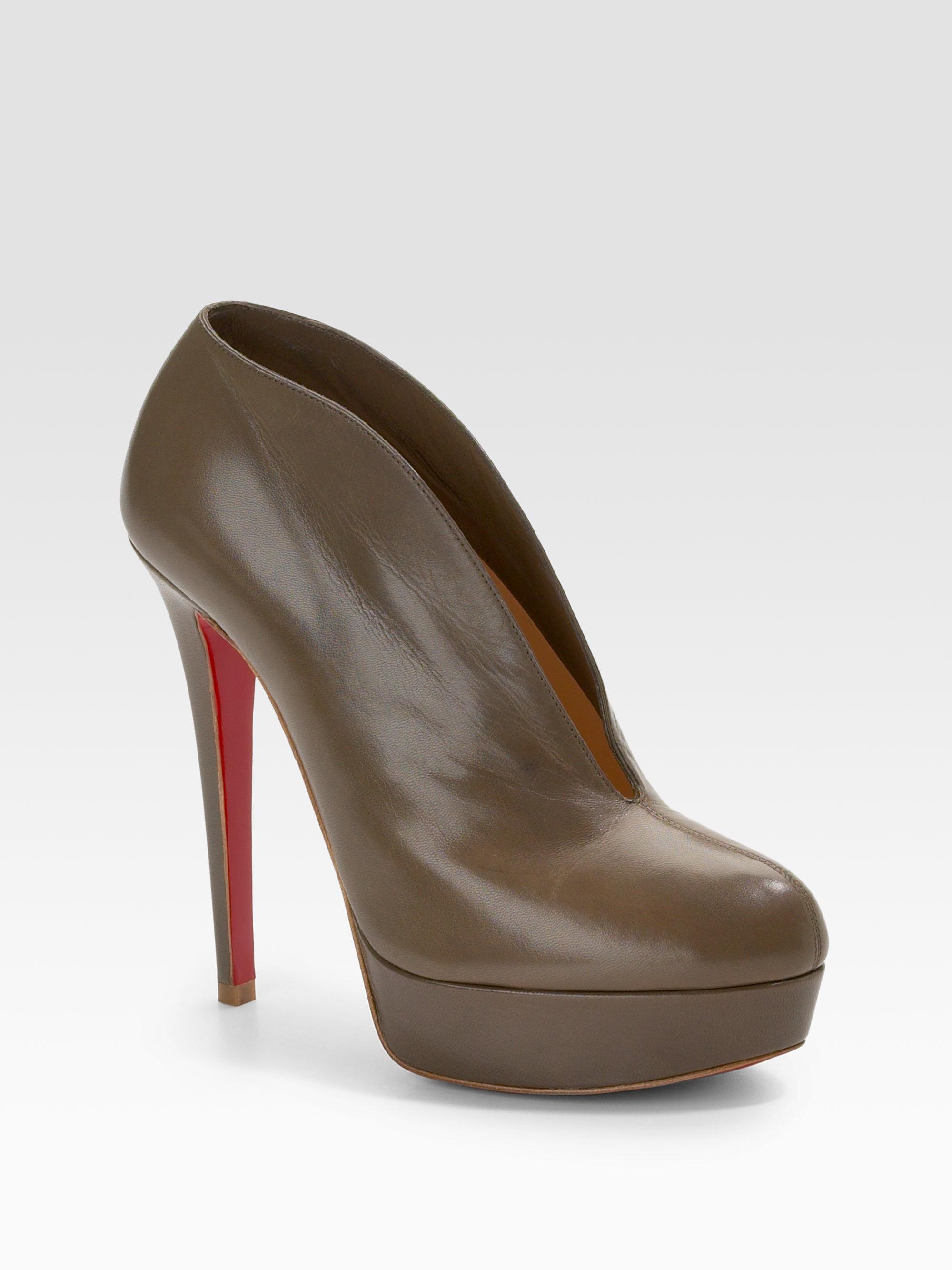 christian louboutin round-toe booties Metallic leather | cosmetics ...