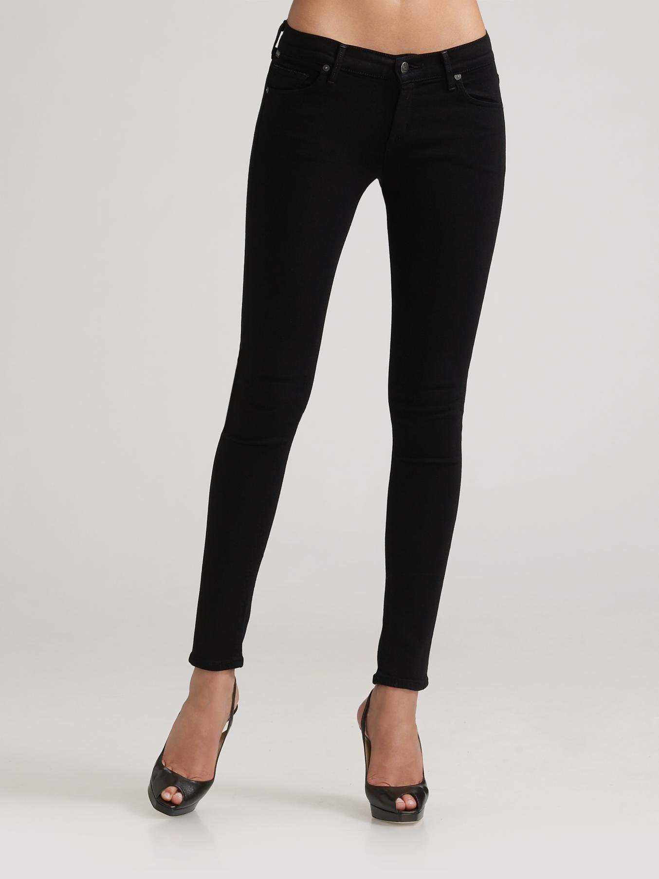 Lyst - Citizens of humanity Avedon Skinny Jeans in Black