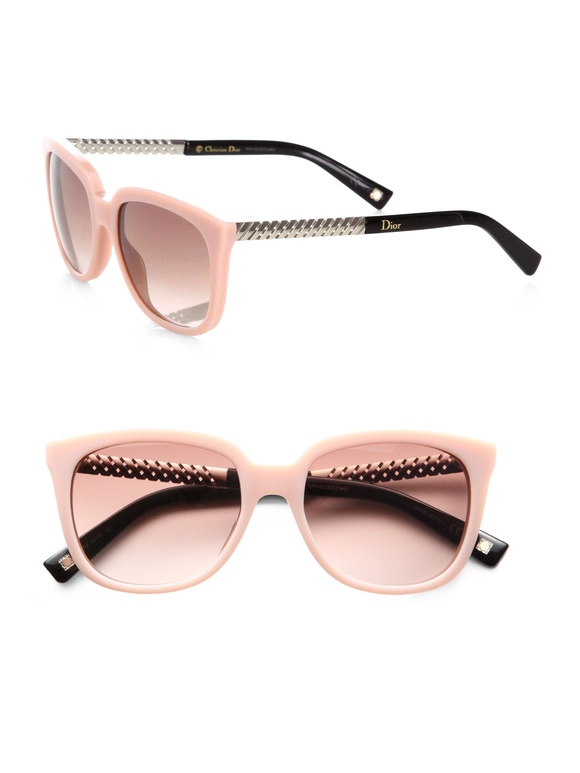 Lyst Dior Braided Oversized Square Acetate Sunglasses In