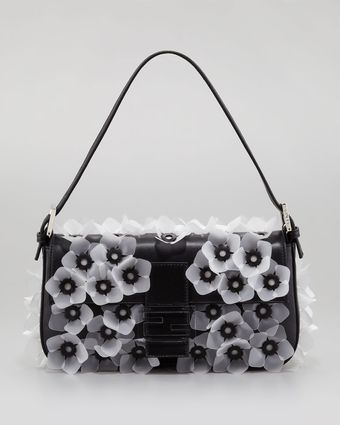 Fendi Jellyflower Applique Baguett - Lyst