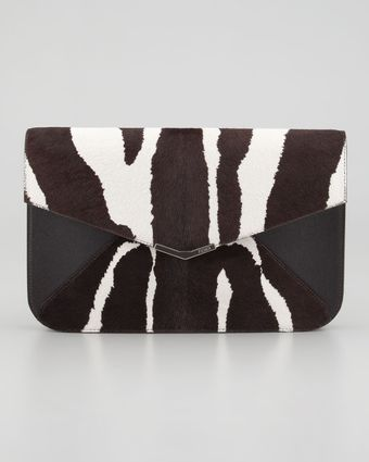 Fendi 2jours Calf Hair Clutch Wristlet Bag - Lyst