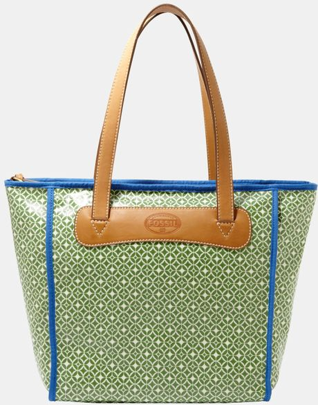 Fossil Keyper Shopper in Green