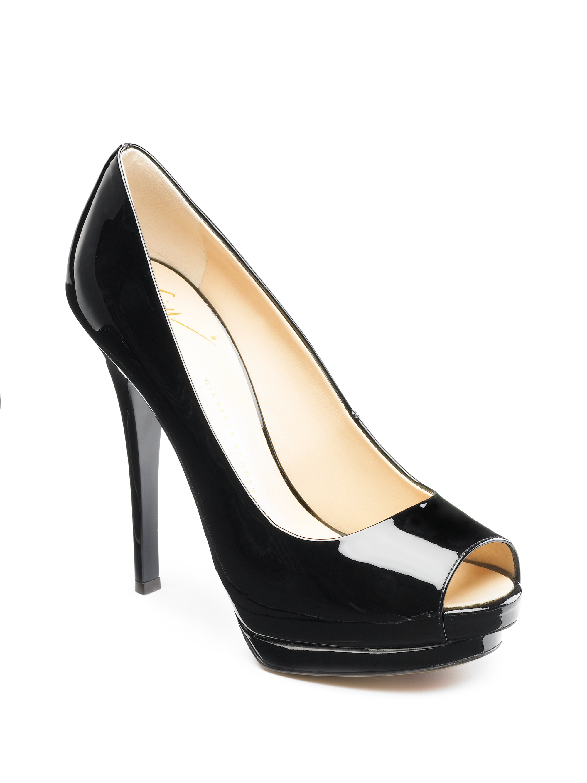get authentic for sale Giuseppe Zanotti Patent Peep-Toe Pumps buy cheap factory outlet rGfbCJJq