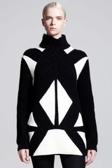 Givenchy Intarsia Patchwork Turtleneck Sweater - Lyst