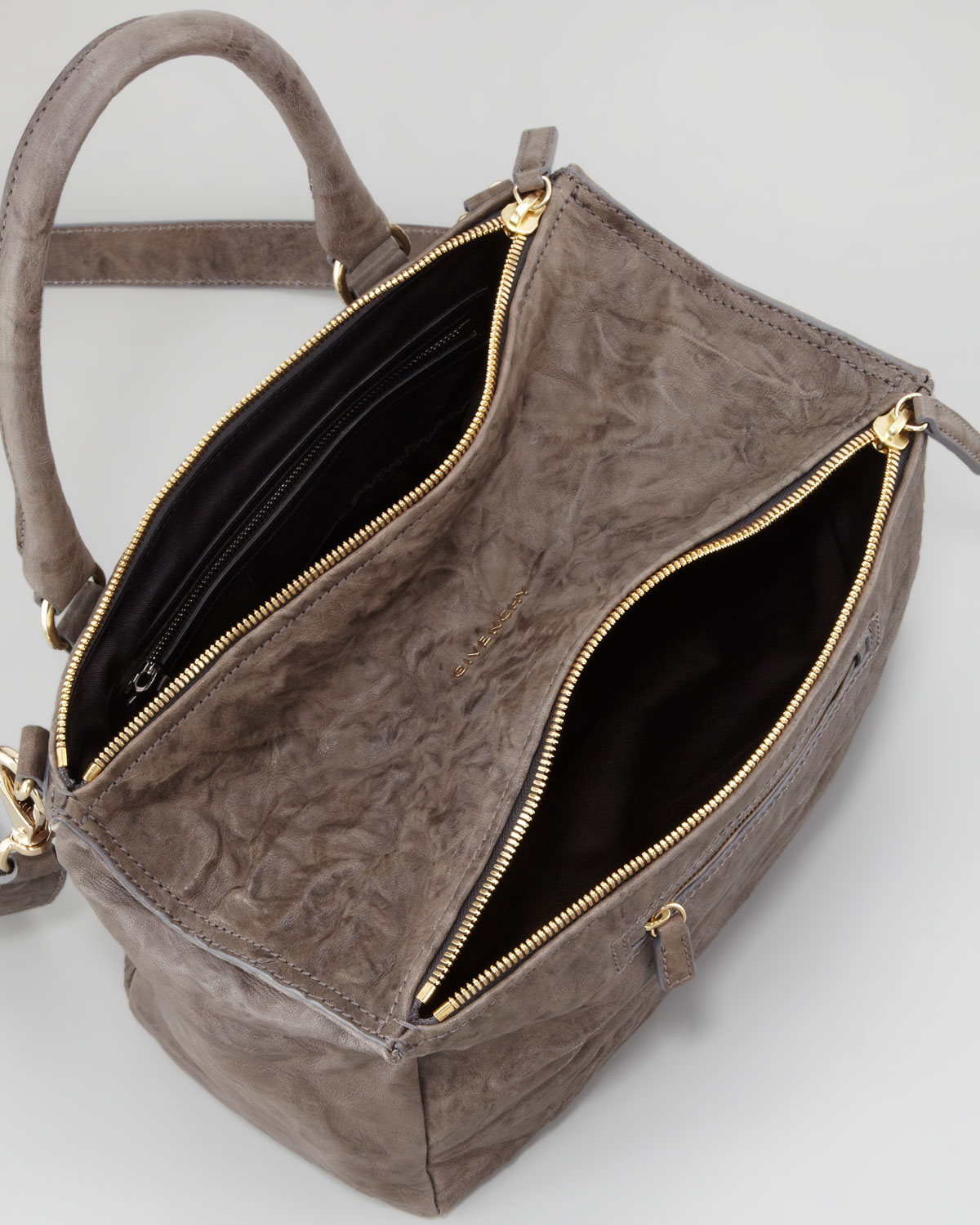 1fa257cbe759 Lyst - Givenchy Pandora Medium Old Pepe Satchel Bag Charcoal in Brown