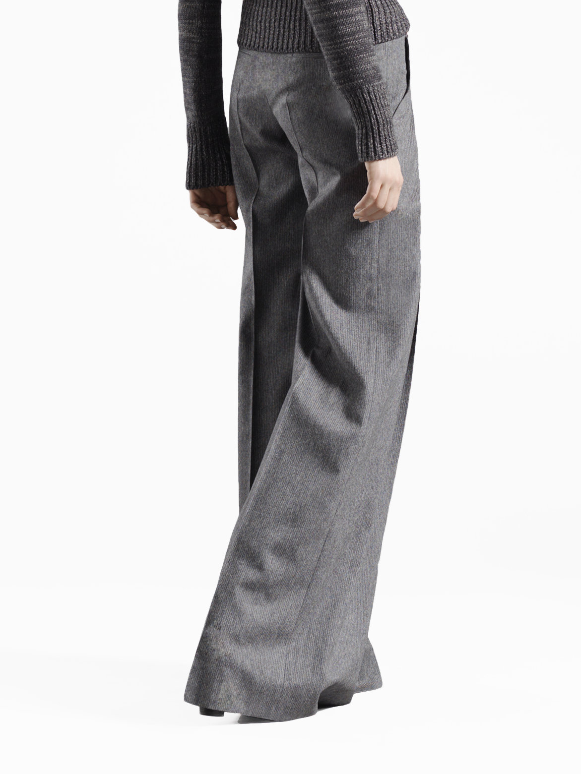 Gucci Wide Leg Flare Pants in Gray | Lyst