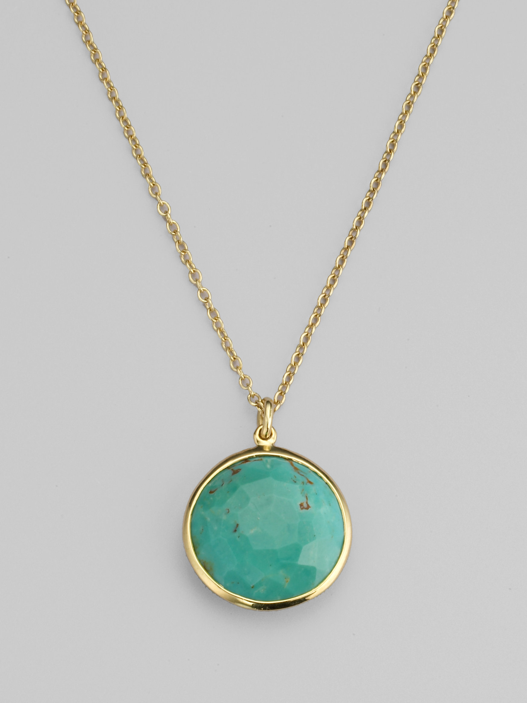 ippolita turquoise 18k yellow gold necklace in gold lyst
