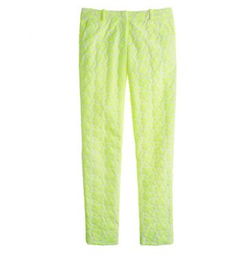 J.Crew Collection Café Capri in Embroidered Neon Floral - Lyst