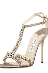 Jimmy Choo Tayn Crystal Tstrap Sandals - Lyst