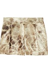 Just Cavalli Metallic Floraljacquard Shorts - Lyst