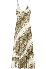 Just Cavalli Printed Silk Maxi Dress - Lyst