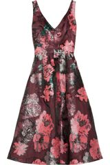 Lela Rose Floralpatterned Fil Coupé Dress - Lyst