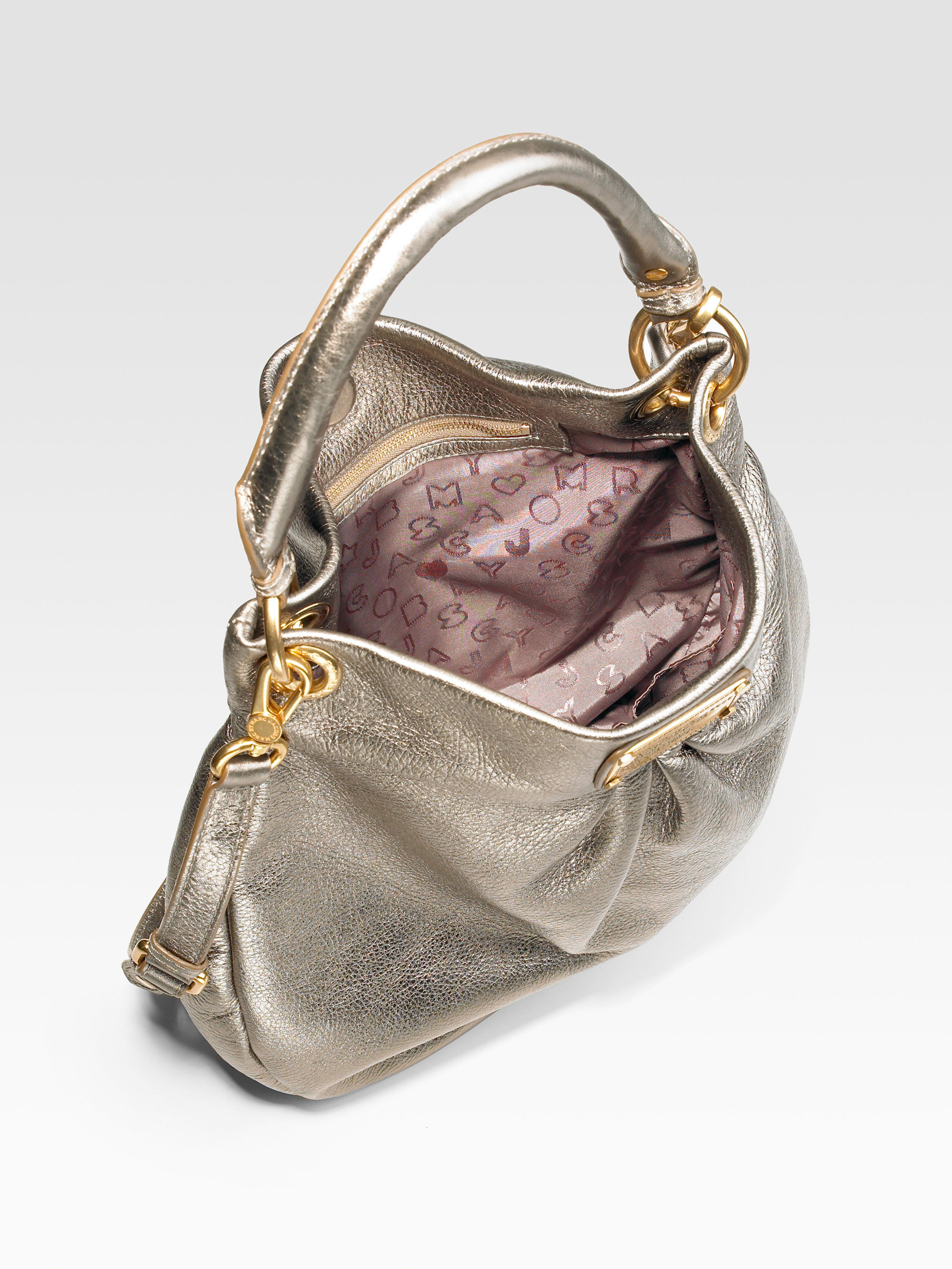 023dfcd2b5 Marc By Marc Jacobs Classic Q Metallic Leather Hillier Hobo Bag in ...