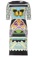 Mary Katrantzou Viola Teleport Silk Print Dress - Lyst