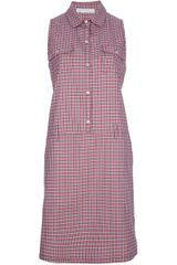 Societe Anonyme Check Sleeveless Shirt Dress - Lyst