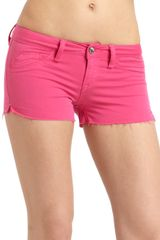 Sold Design Lab Bleeker Colored Denim Shorts - Lyst