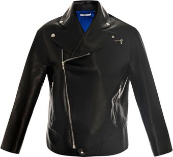Thomas Tait Leather Biker Jacket - Lyst