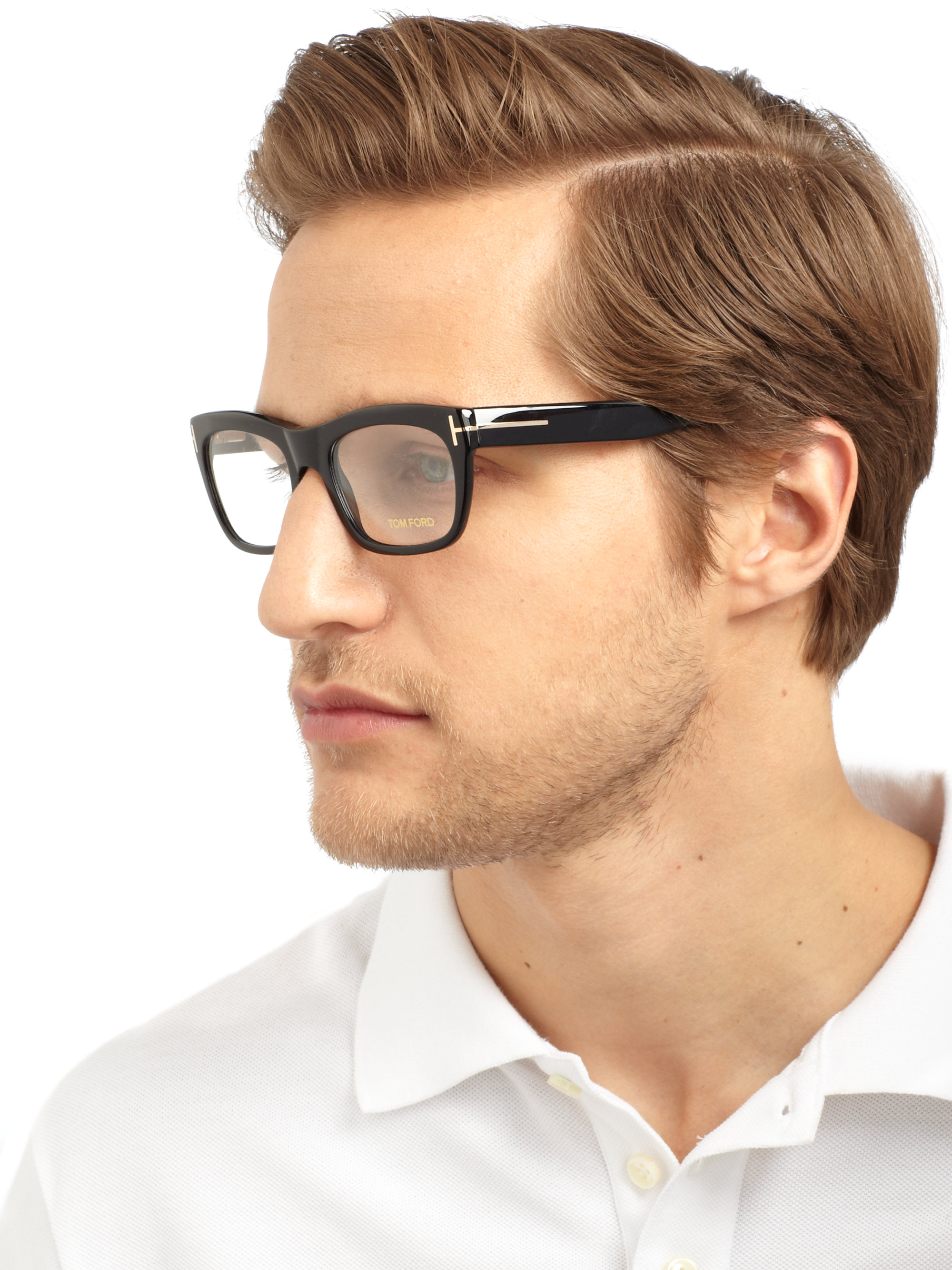 Lyst Tom Ford Shiny Optical Frames In Black For Men