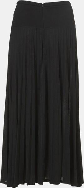 Topshop Black Side Split Maxi Skirt In Black Lyst