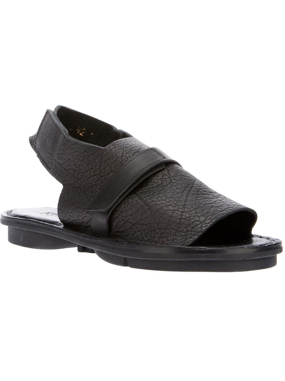 Lyst Trippen Velcro Sandal In Black For Men