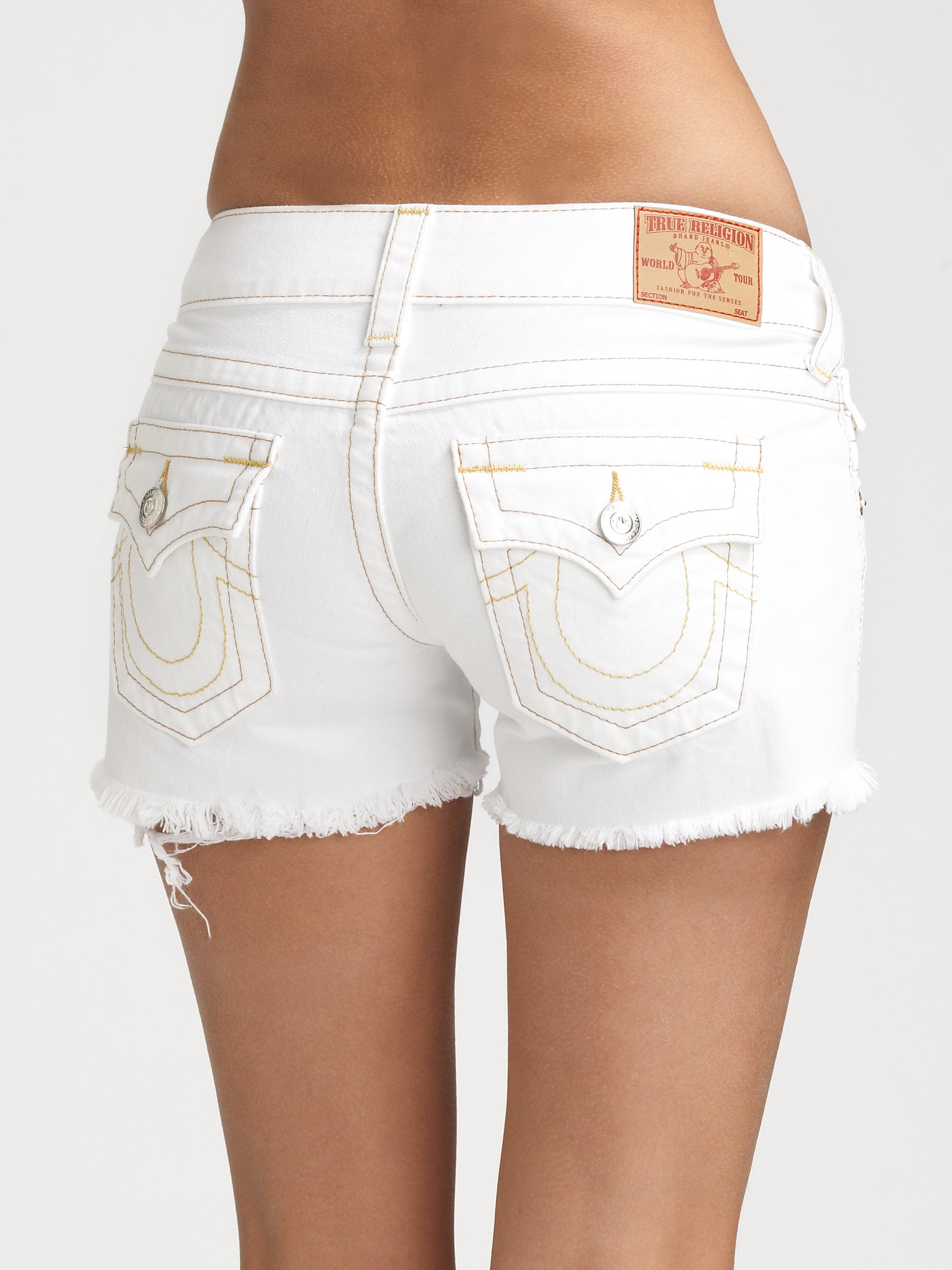 levi's men's slim fit low rise zip fly stretch shorts white bull denim see more like this Levis Signature Women Shorts Jeans White Denim Bermuda Size 16 Misses Pre-Owned.