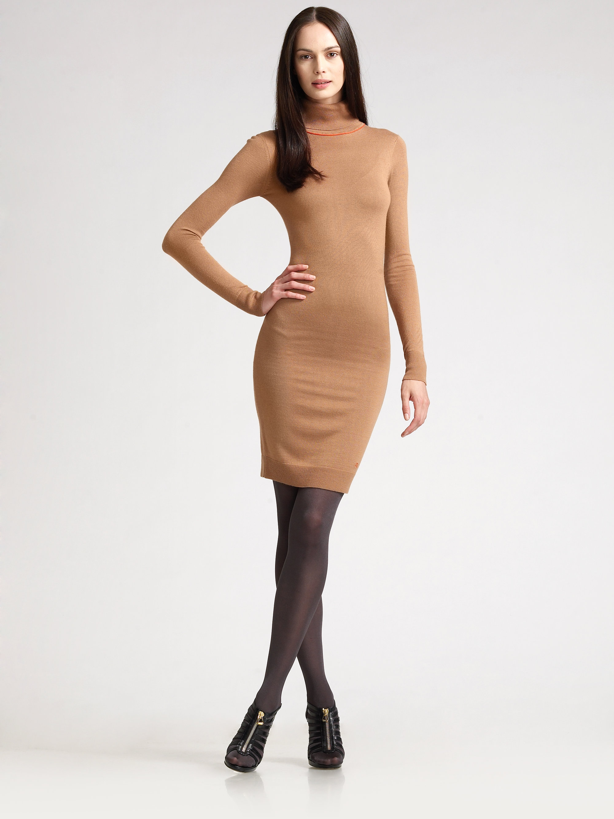 Lyst Z Spoke By Zac Posen Turtleneck Dress In Natural