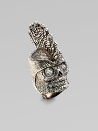 Alexander McQueen Corn Dolly Skull Ring - Lyst