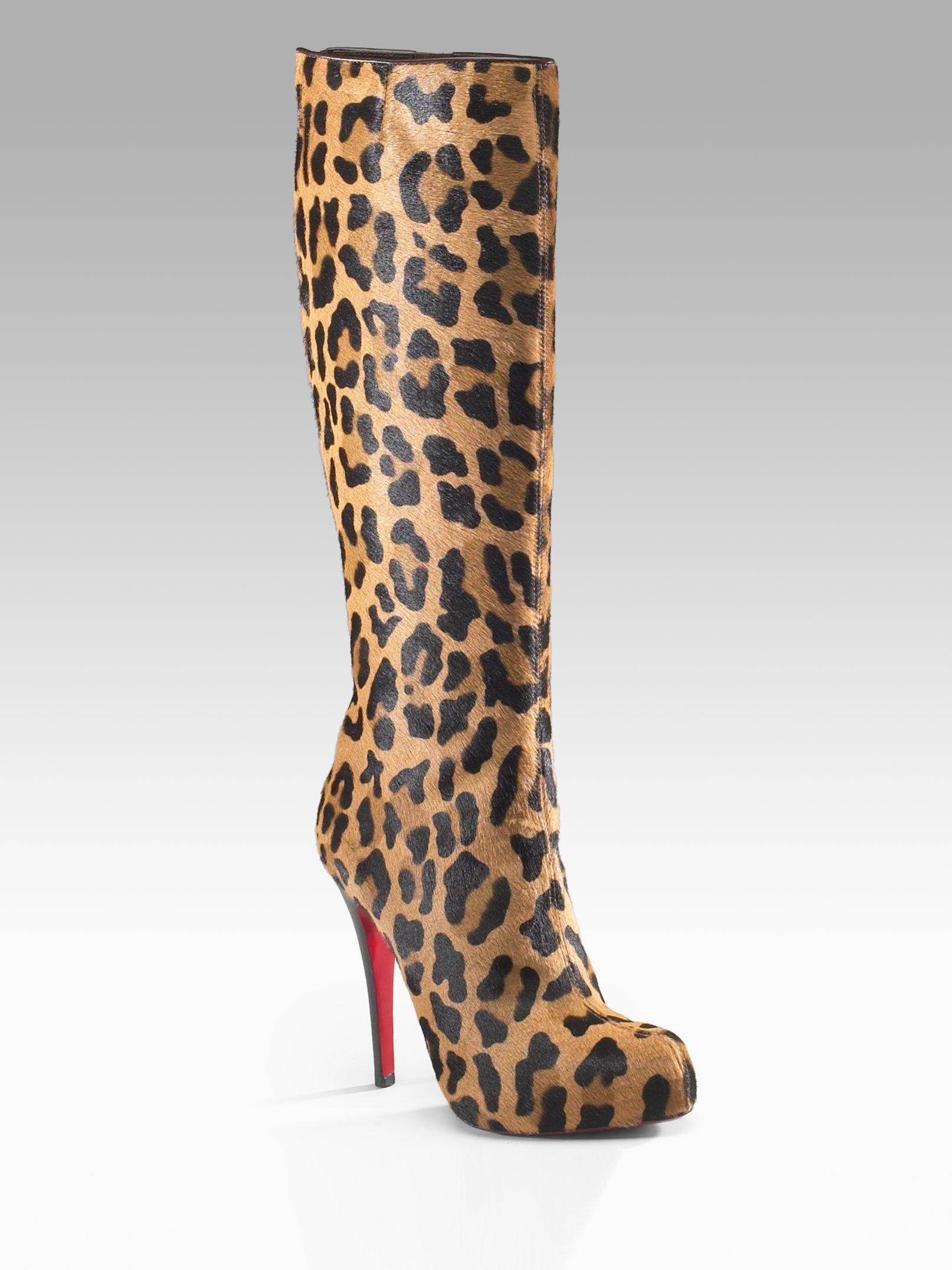 christian louboutin leopard booties