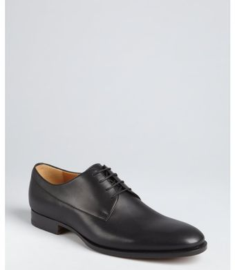Gucci Black Leather Laceup Oxfords - Lyst
