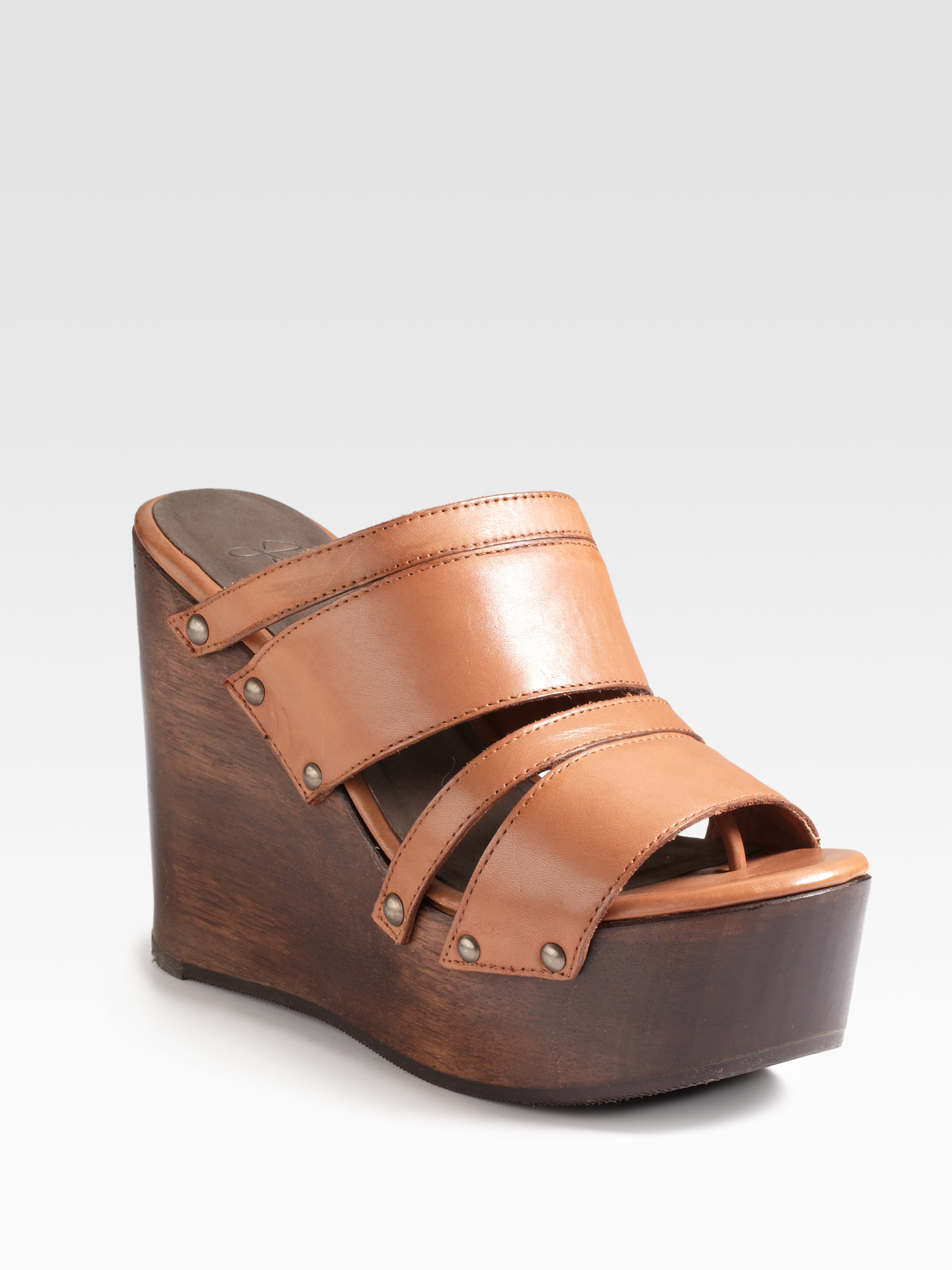 07a8644c69a Lyst - Joie Womack Wooden Platform Wedge Sandals in Brown