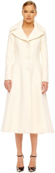 Michael Kors Wool Princess Coat - Lyst