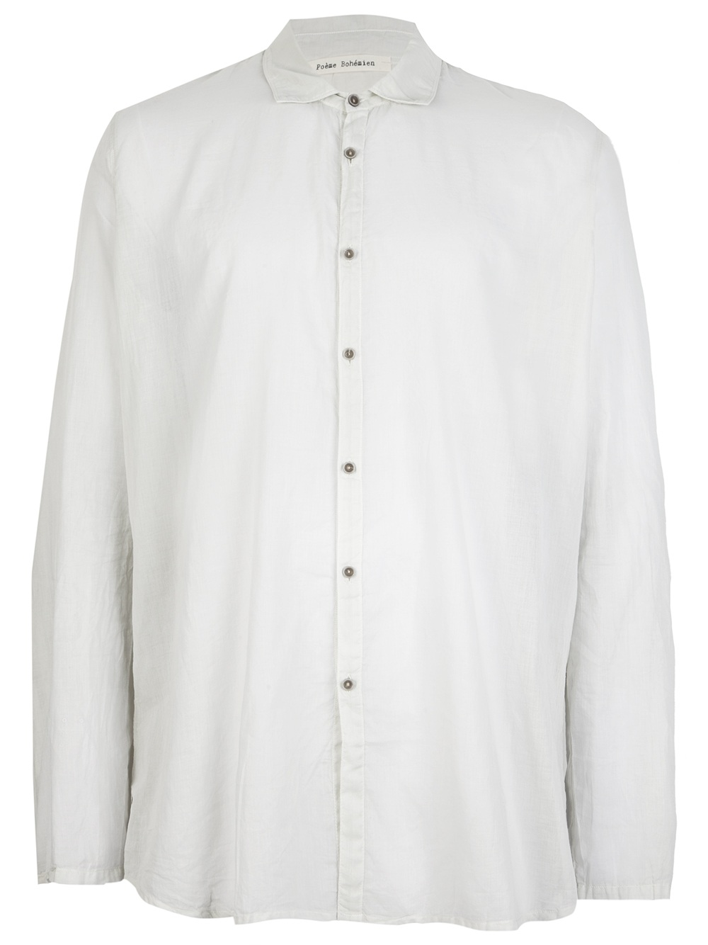 Poeme bohemien button down shirt in white for men lyst for White button down shirt mens