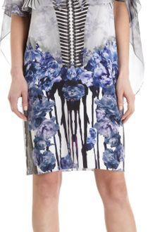 Prabal Gurung Sleeveless Chiffon Cape Floral Dress - Lyst