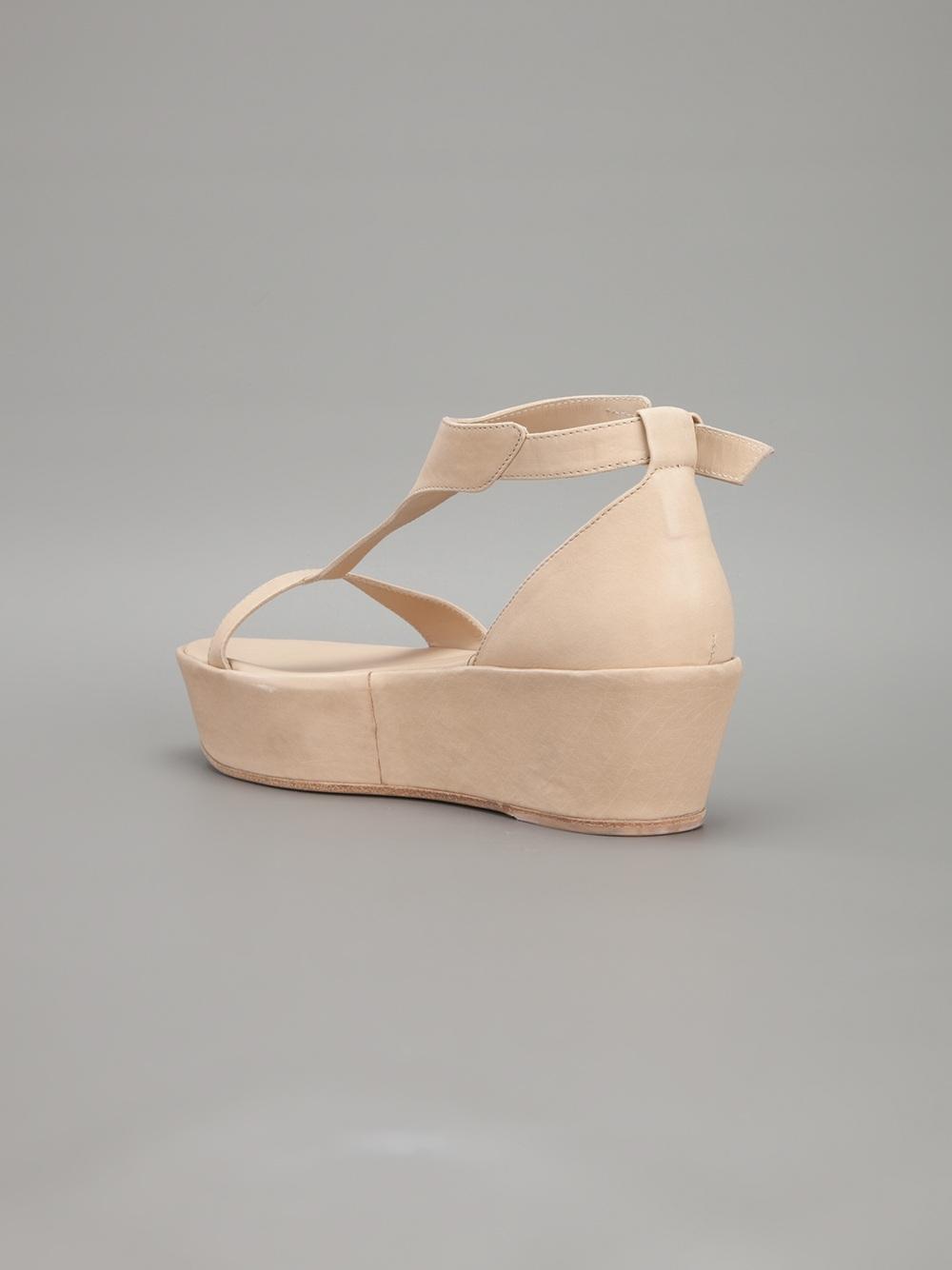 Lyst Ann Demeulemeester Platform Sandal In Natural