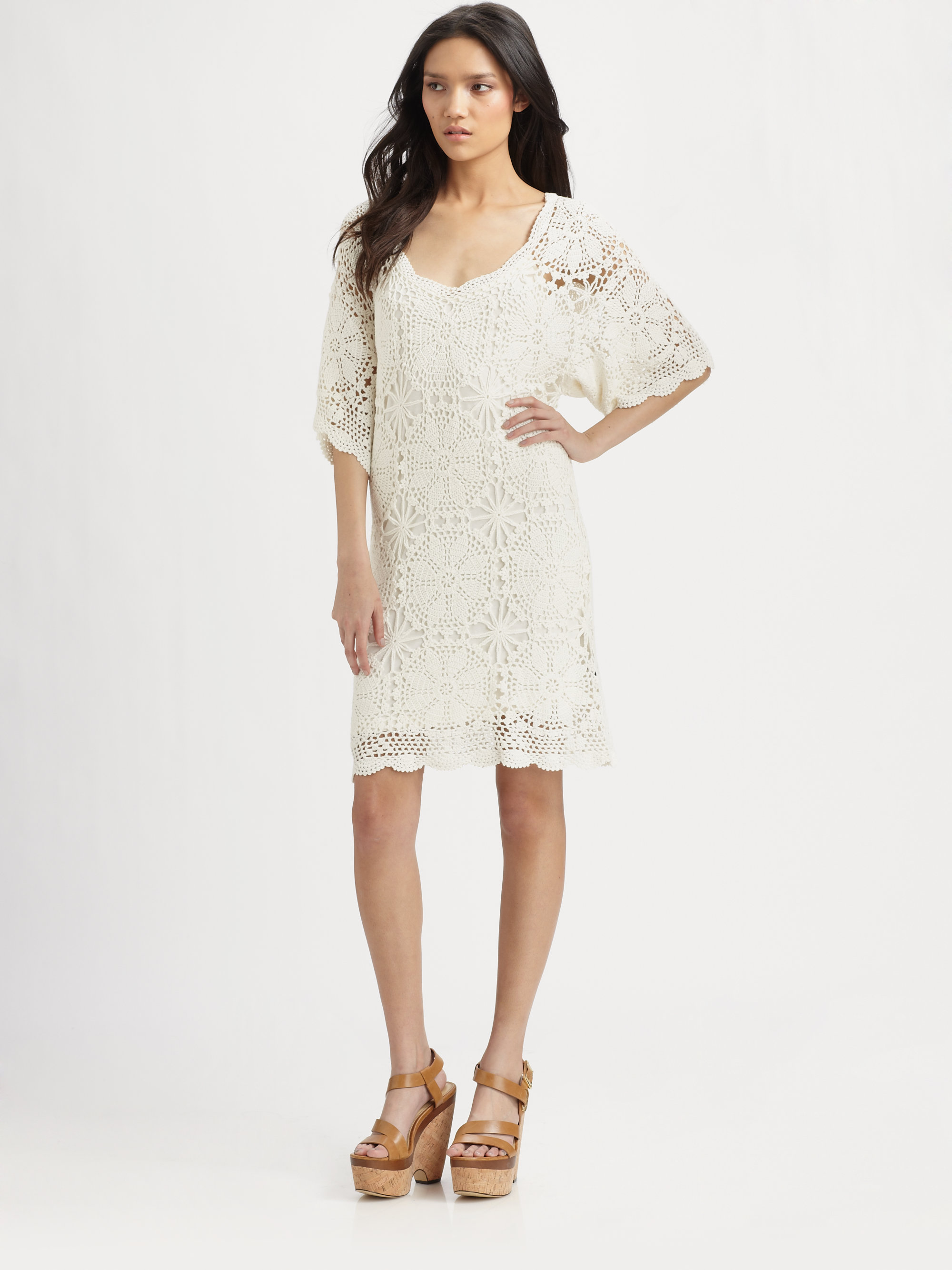 Semi sheer lace dress