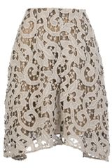 Carven Cut Out Crotchet Skirt