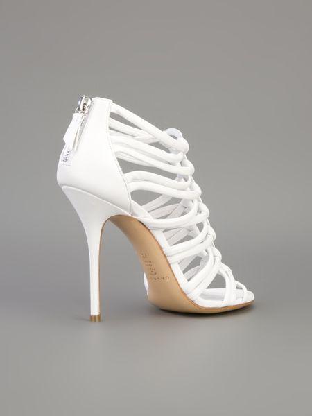 Casadei Strappy Stiletto Sandal In White Lyst