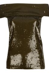 Donna Karan New York Sequinned Top - Lyst