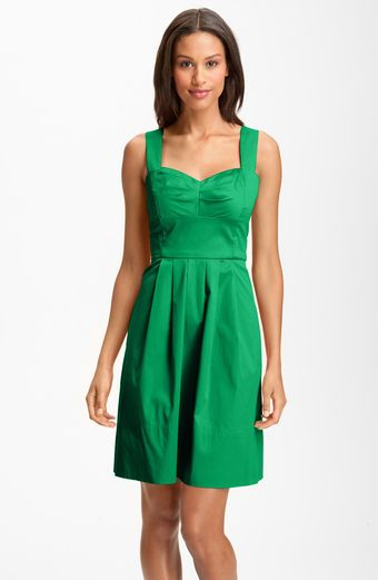 Donna Ricco Stretch Cotton Party Dress - Lyst