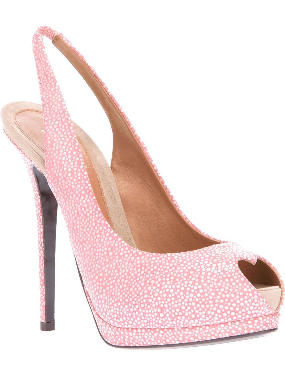 Open Toe Pink Heels