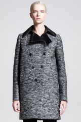 Givenchy Descending Doublebreasted Tweed Coat - Lyst