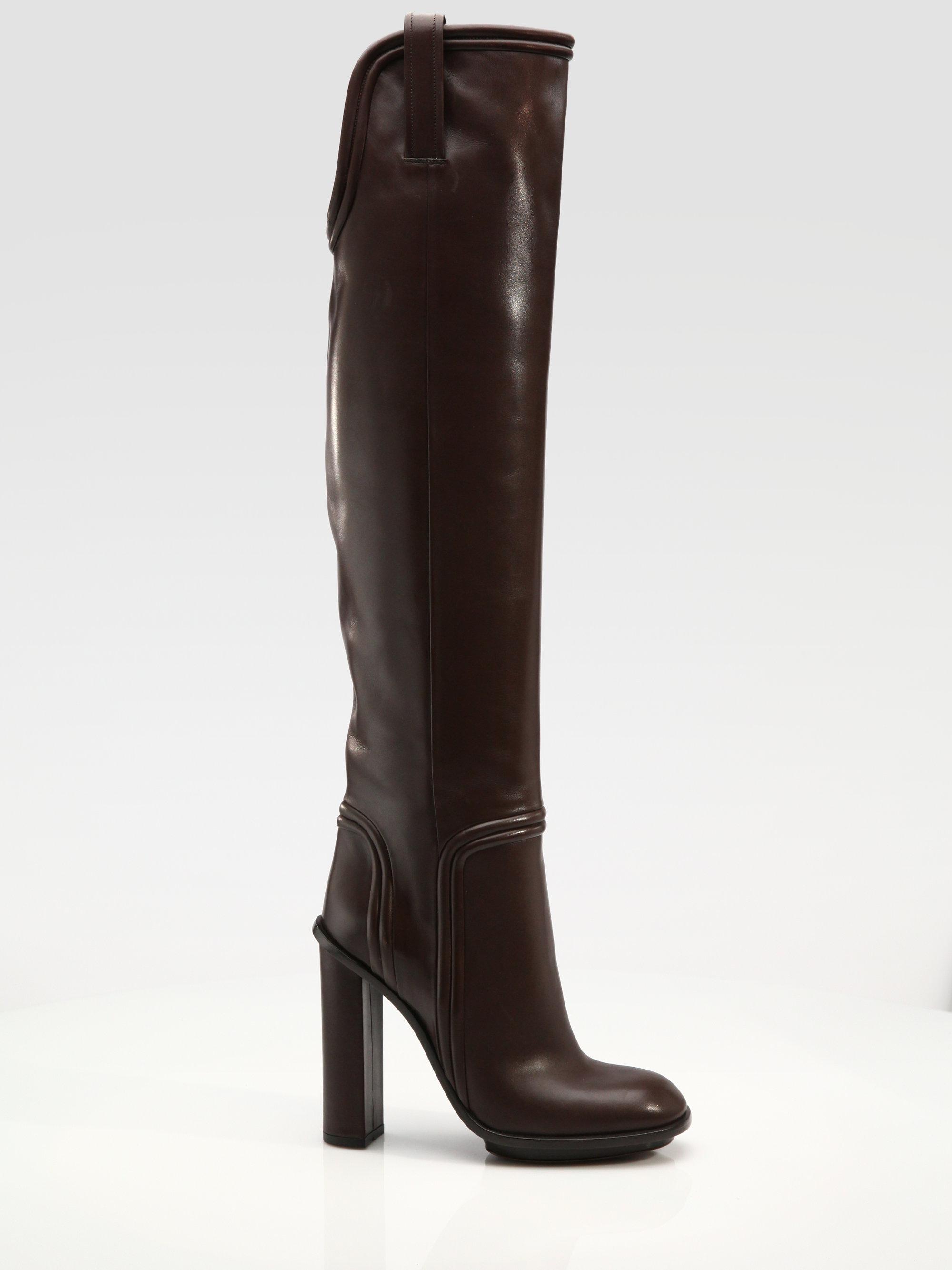 db85a2c0dc7 Lyst - Gucci Trish Highheel Platform Boots in Black