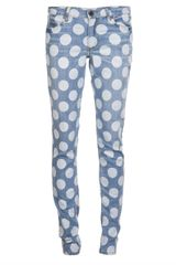 House Of Holland Polka Dot Wash Jeans - Lyst