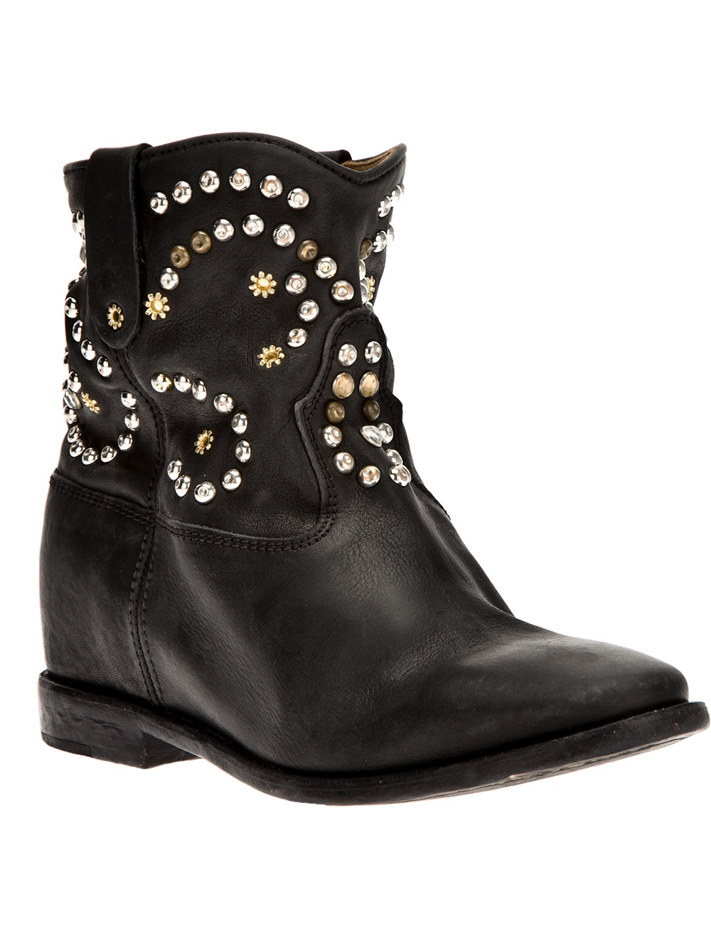 isabel marant caleen ankle boot in black lyst. Black Bedroom Furniture Sets. Home Design Ideas