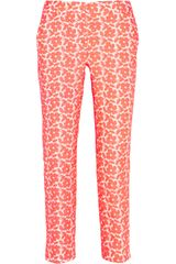 J.Crew Café Embroidered Cottonblend Capri Pants - Lyst