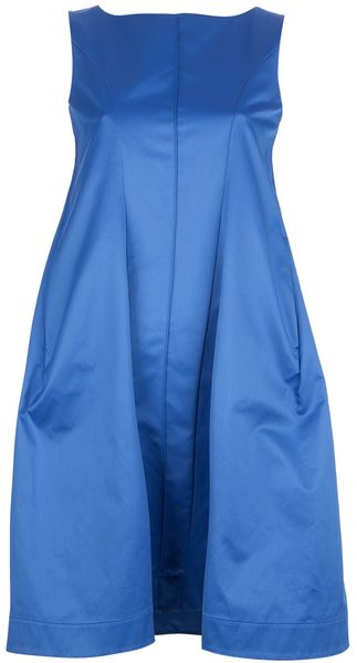 Jil Sander Sleeveless Full Skirt Dress - Lyst