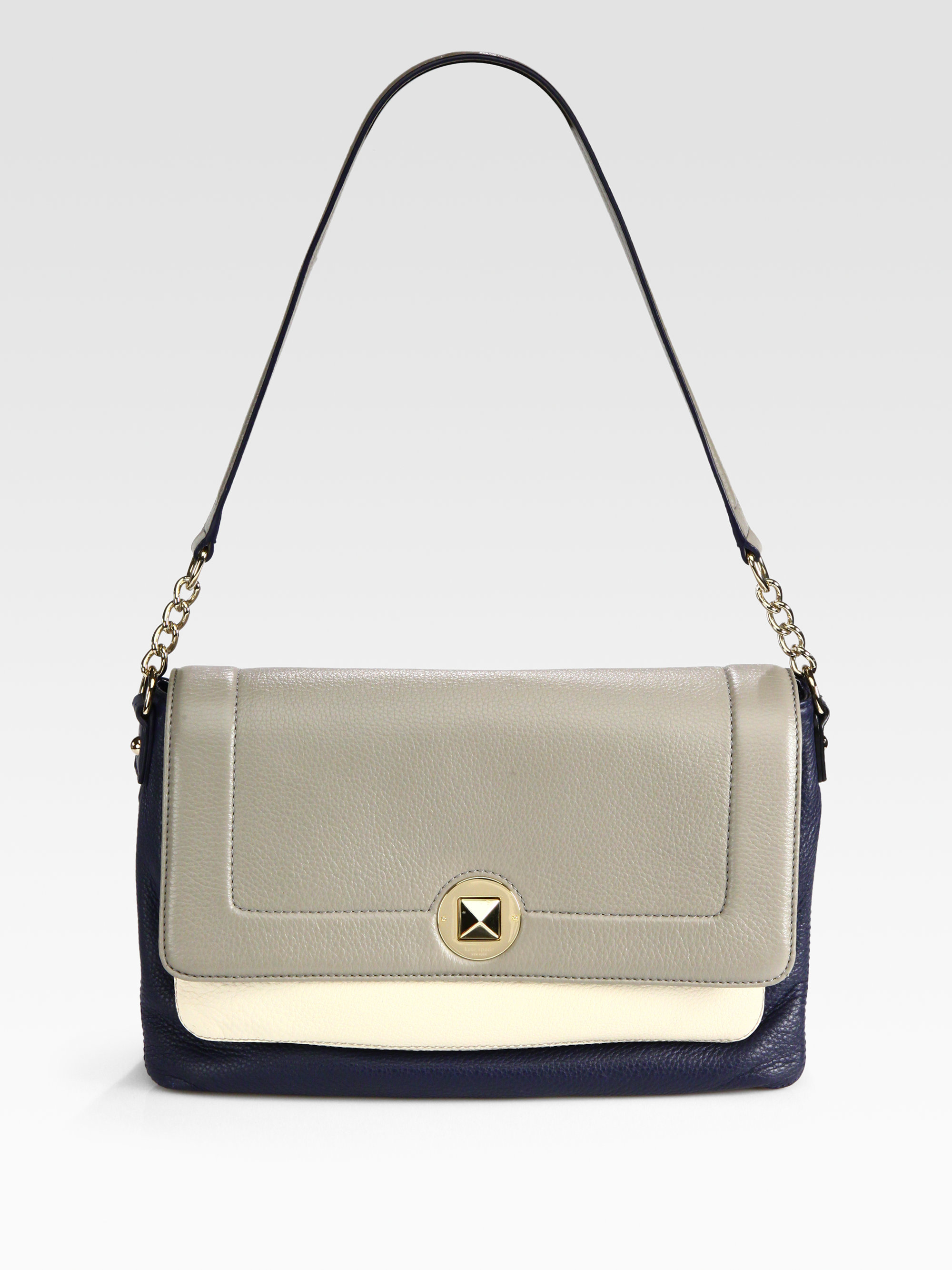 1d6c2d69d8ab Lyst - Kate Spade Lottie Colorblock Shoulder Bag in Metallic