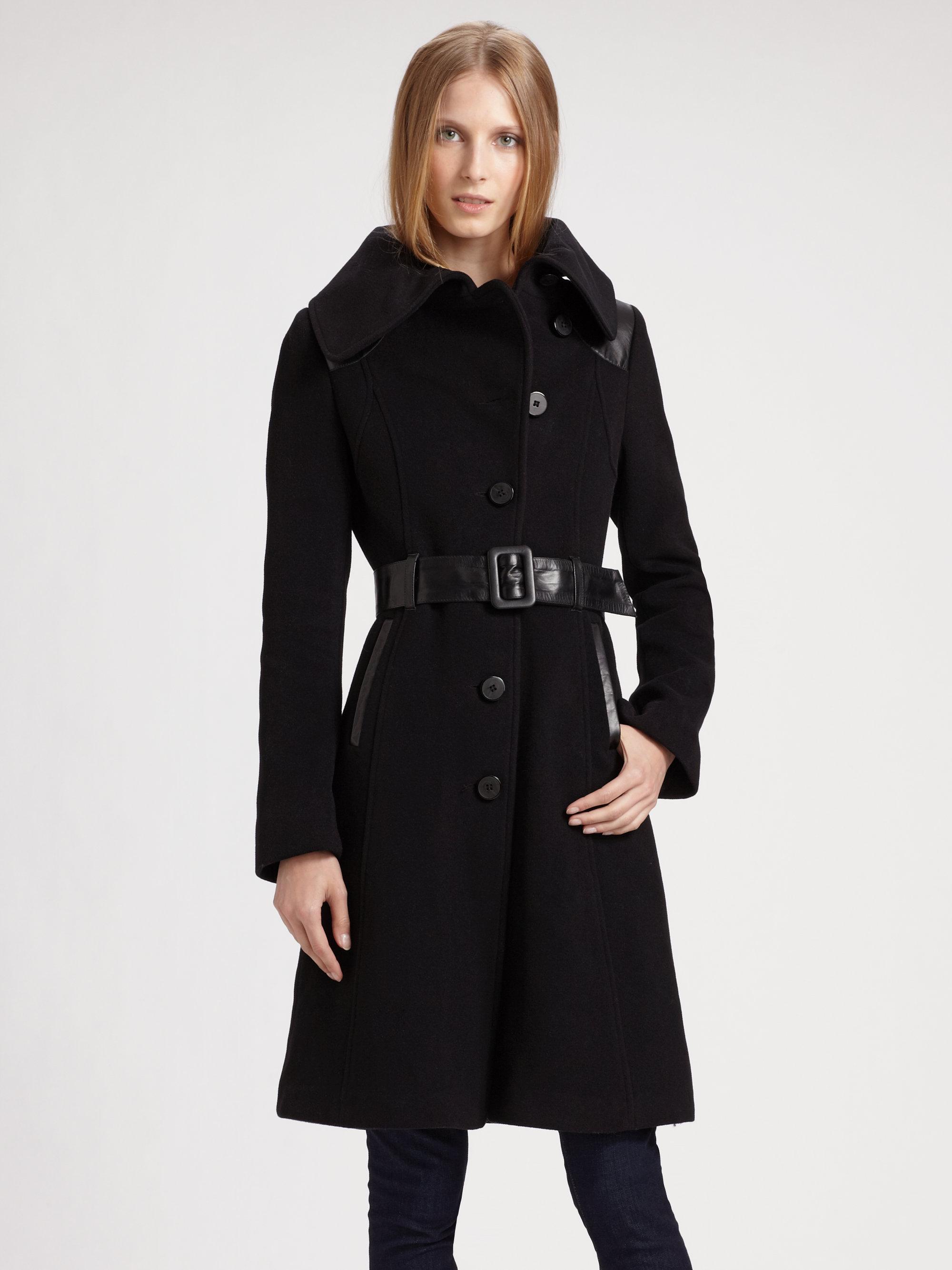 0c69d00caa8 ... authentic lyst mackage aline wool coat in black 29f9e 2e7ef